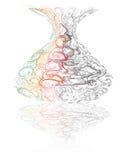 Vaso de flor de vidro Imagem de Stock