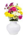 Vaso de flor isolado no branco imagem de stock