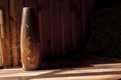 Vaso de madeira Imagens de Stock Royalty Free