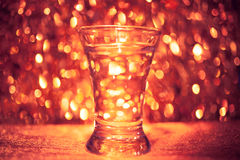 Vaso de medida de vodka Fotografía de archivo libre de regalías