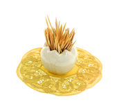 Vaso de vidro minúsculo dos Toothpicks Imagens de Stock