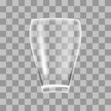 Vaso de vidro transparente ilustração stock