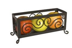 Vaso decorativo con le mele immagini stock libere da diritti