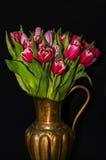 Vaso dei tulipani fotografia stock