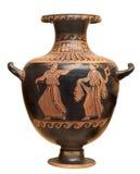 Vaso del greco antico isolato su bianco Fotografie Stock