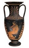 Vaso del greco antico isolato su bianco Fotografia Stock