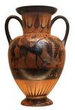 Vaso del greco antico isolato su bianco Fotografia Stock Libera da Diritti