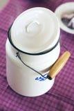 Vaso del latte Immagini Stock Libere da Diritti
