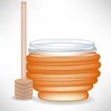 Vaso del miele con acquerugiola Immagini Stock