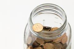 Vaso del penny Immagini Stock