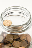 Vaso del penny Immagine Stock