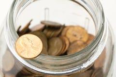 Vaso del penny Immagine Stock Libera da Diritti