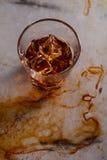 Vaso del whisky del top imagen de archivo