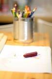 Vaso della matita fotografia stock