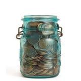 Vaso della moneta Fotografie Stock