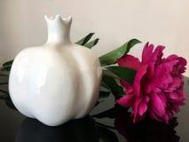 Vaso della peonia Fotografia Stock