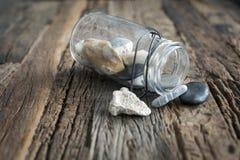 Vaso della spiaggia sulla tavola Immagini Stock