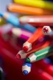 Vaso delle matite di coloritura Fotografia Stock
