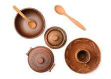 Vaso delle terraglie, piatto, tazza Immagine Stock