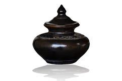 Vaso di argilla nero Immagini Stock