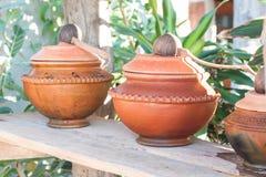 Vaso di argilla riempito di acqua Fotografia Stock