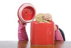 Vaso di biscotto Immagini Stock Libere da Diritti
