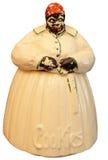 Vaso di biscotto antico isolato Fotografia Stock Libera da Diritti