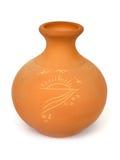 Vaso di ceramica con l'illustrazione Fotografia Stock