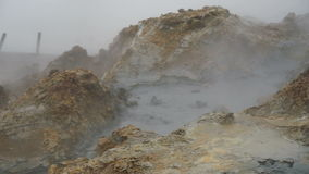 Vaso di cottura a vapore e di ribollimento del fango, Islanda video d archivio