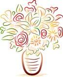vaso di fiore illustrazione di stock