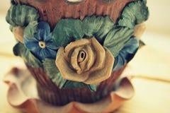 Vaso di fiore dell'argilla Fotografia Stock