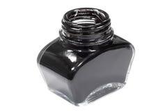 Vaso di inchiostro nero Fotografie Stock