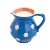 Vaso di latte fotografie stock