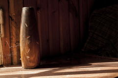 Vaso di legno immagini stock libere da diritti