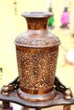 Vaso di legno fatto a mano Fotografia Stock Libera da Diritti