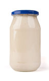 Vaso di mayonaise. fotografie stock libere da diritti