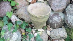 Vaso di pietra Fotografia Stock