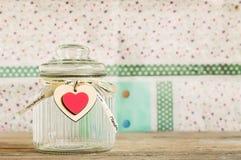 Vaso di vetro con il coperchio Immagine Stock