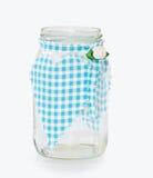 Vaso di vetro della cucina con cuore handmade decorativo Immagine Stock