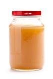 Vaso di vetro di alimenti per bambini Fotografia Stock