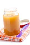Vaso di vetro di alimenti per bambini Fotografia Stock Libera da Diritti