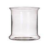 Vaso di vetro isolato su un fondo bianco Fotografie Stock