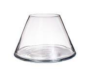 Vaso di vetro isolato su un fondo bianco Immagine Stock Libera da Diritti