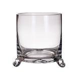 Vaso di vetro isolato su un fondo bianco Immagini Stock Libere da Diritti