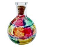 Vaso di vetro macchiato immagini stock