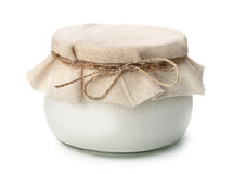 Vaso di yogurt organico casalingo fotografia stock