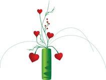 Vaso do vetor com flores ilustração royalty free