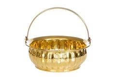 Vaso dorato vuoto Fotografia Stock