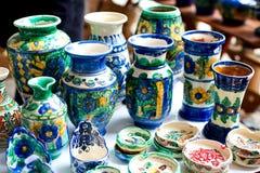 Vaso e cassetti di ceramica Immagini Stock