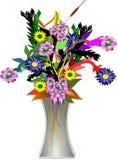 Vaso e fiori in 3d Fotografia Stock